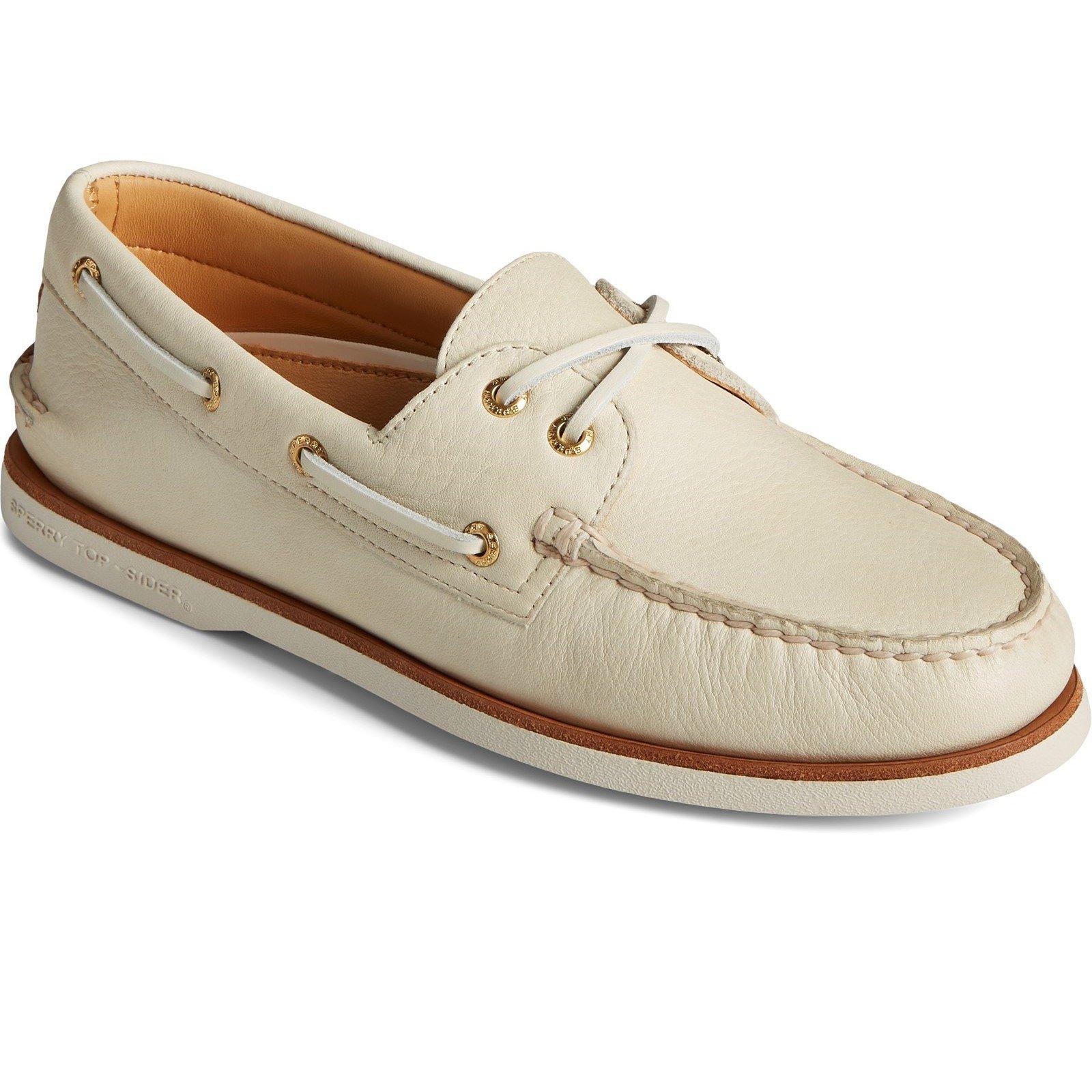 Sperry Men's A/O 2-Eye Boat Shoe Various Colours 32926 - Cream 8