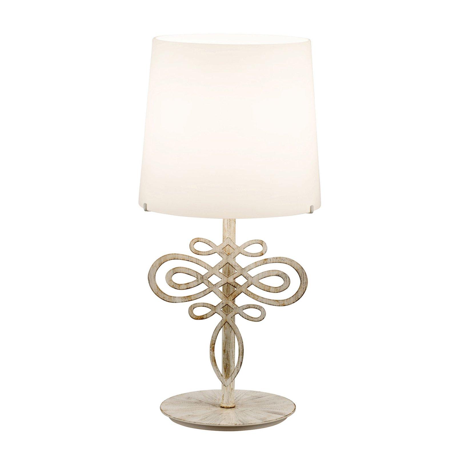 4421/1L bordlampe, tundra hvit