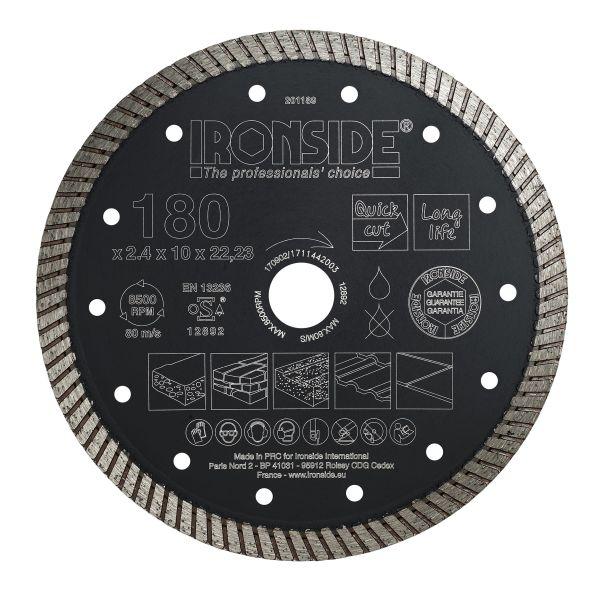 Ironside 201189 Diamantkappskive 180 x 22,23 x 2,4 x 10 mm