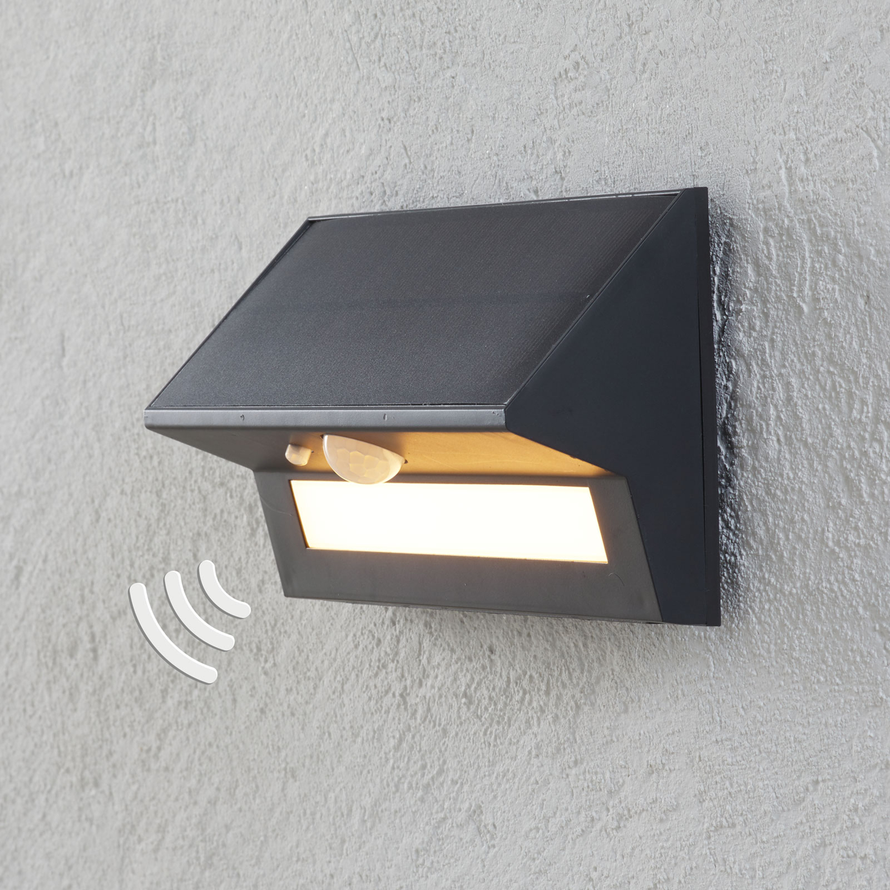 Aurinkokäyttöinen LED-ulkoseinävalaisin Kristiana