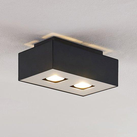 Lindby Kasi kattovalaisin 2-lamppuinen, 24 x 14 cm
