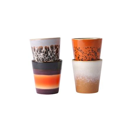 Ceramic 70's Ristretto Mugg 4 st