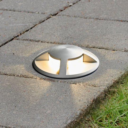 Upotettava LED-maakohdevalaisin Anina alumiinia
