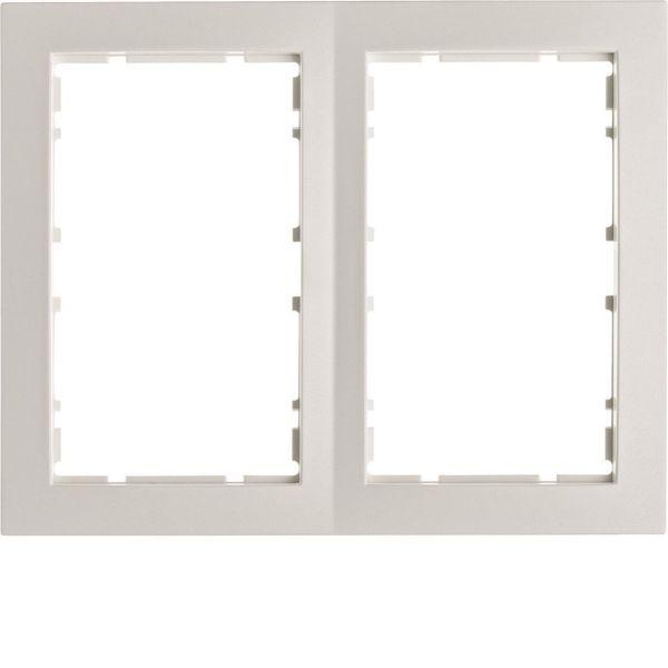 Hager 6510121909 Yhdistelmäkehys 2-suuntainen, S1, valkoinen (Polar White) 2-paikkainen