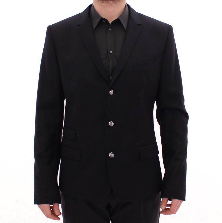 Dolce & Gabbana Men's wool slim fit Blazer Black GSD10264 - IT52 | XL