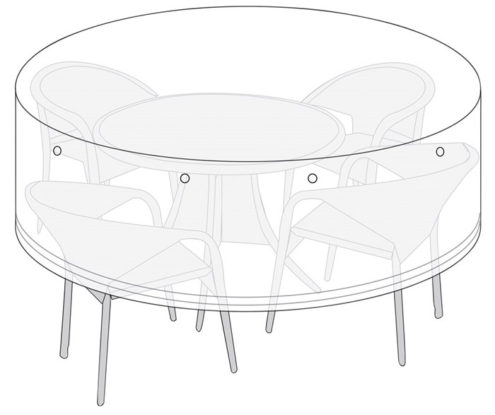 Living Outdoor - Cover For Garden Furniture 180 x 85 cm - Flint Gray (49085)
