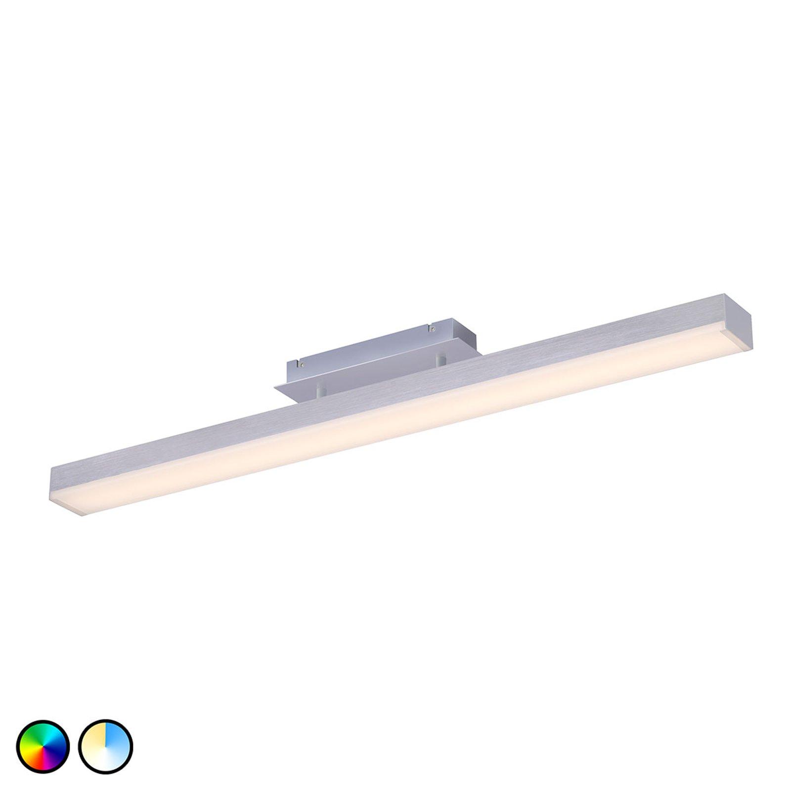 Trio WiZ Livaro LED-taklampe matt nikkel