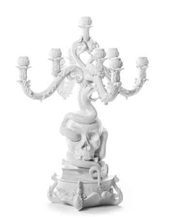 Giant burlesque ljusstake - Skull