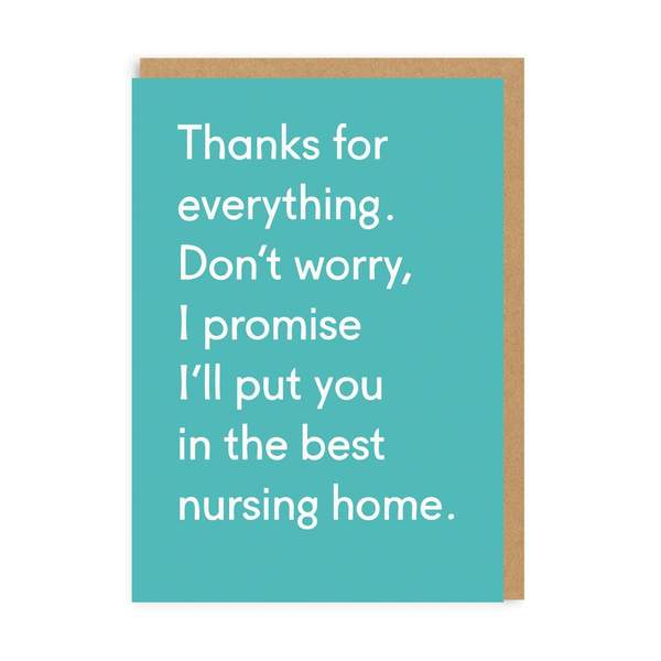 Thanks For Everything Greeting Card