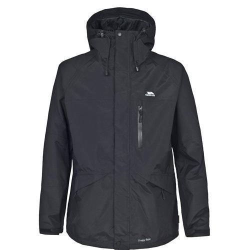 Trespass Unisex Waterproof Jacket Various Colours Corvo - Black S