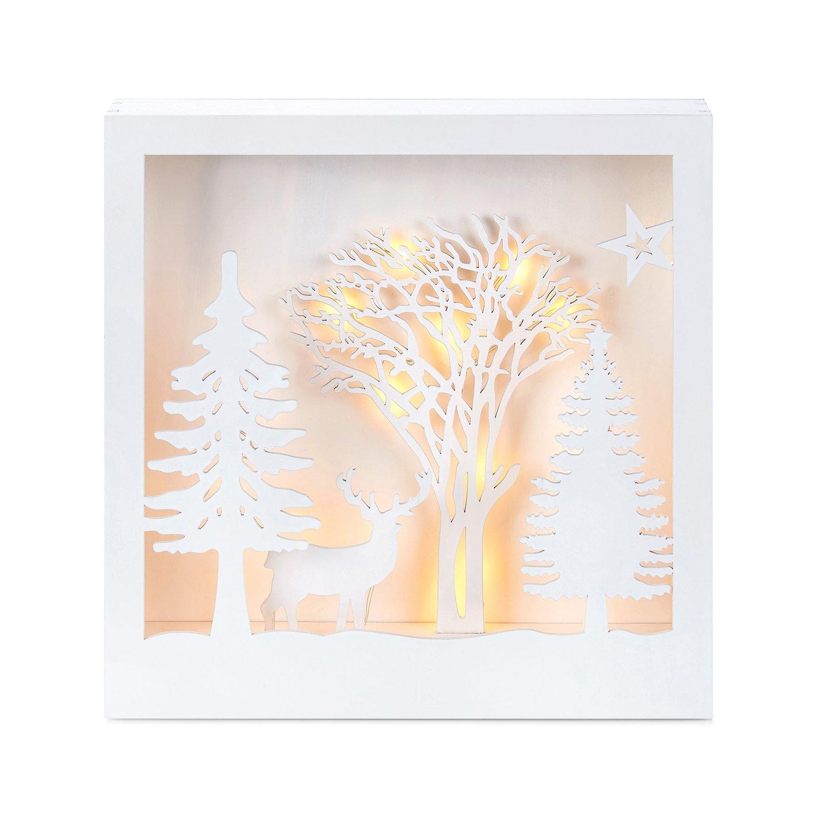 Folkabo LED-belyst 3d-bilde av tre