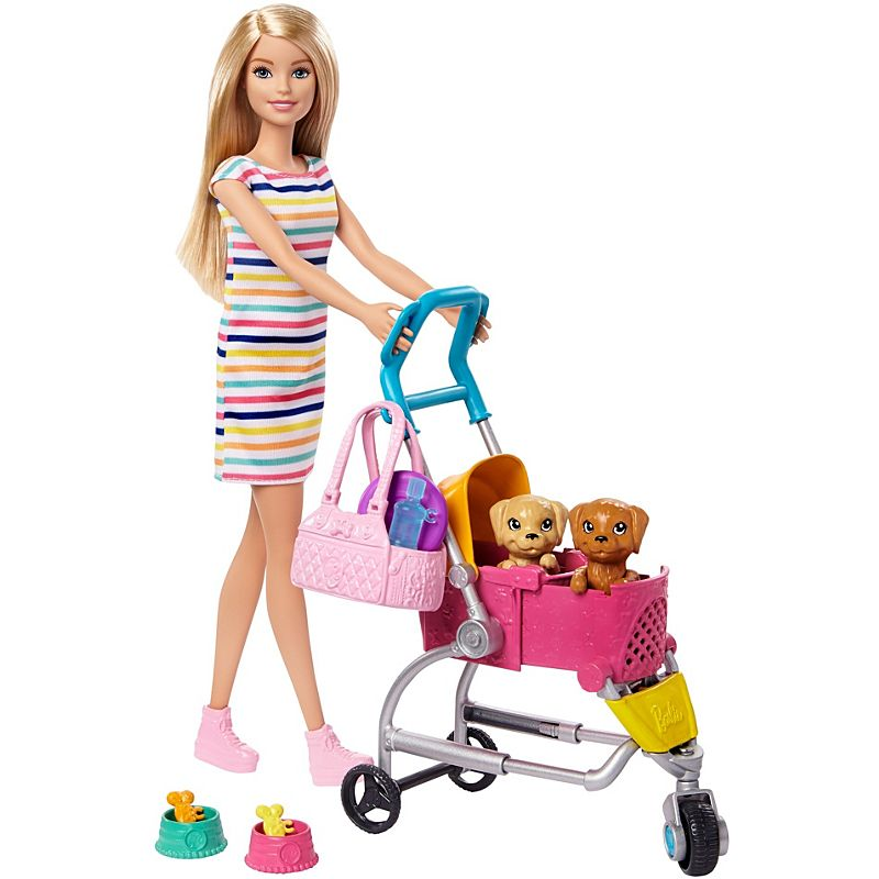 Barbie - Stroll n Play Pups Playset (GHV92)
