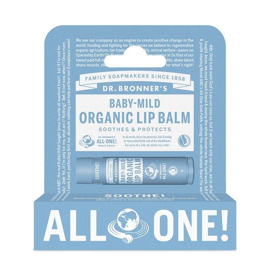 Baby-Mild Organic Lip Balm Hang Pack, 4 g Dr. Bronner's Huulirasva