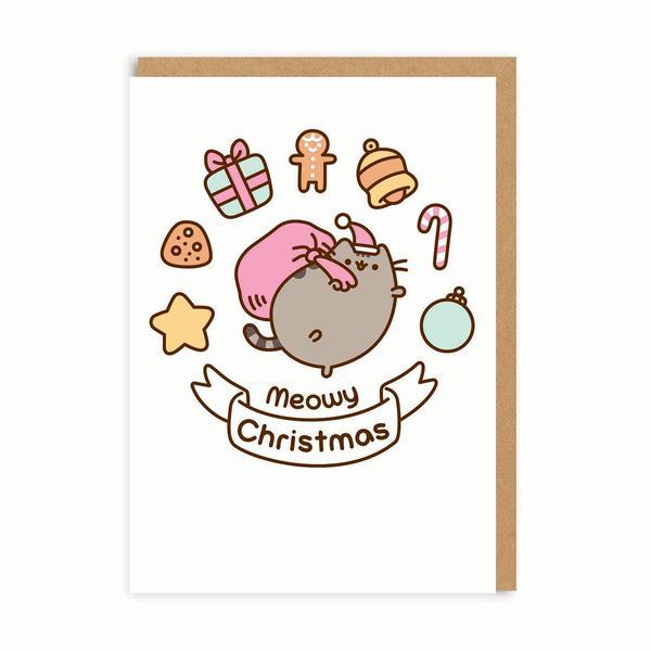Meowy Christmas Treats Christmas Card