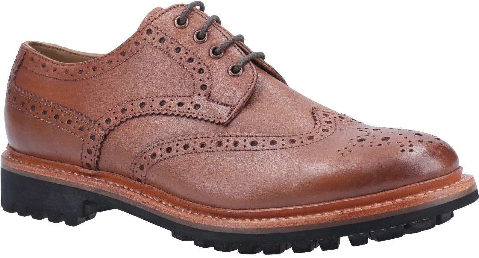Cotswold Men's Quenington Commando Welt Brogue Shoe Various Colours 29257 - Brown 7