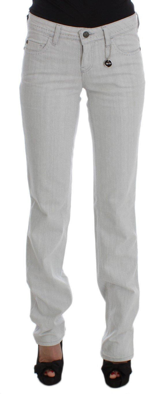 Costume National Women's Cotton Slim Fit Bootcut Jeans Gray SIG32589 - W26
