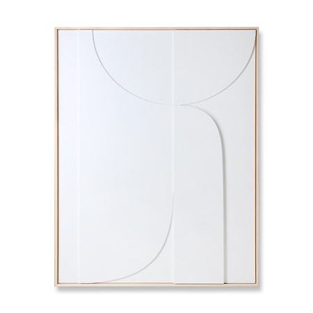 Framed Relief Art Panel White B Extra Large