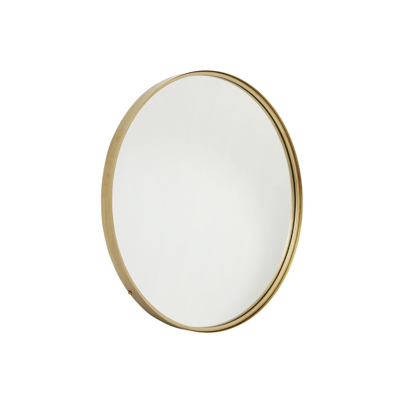 Rund spegel 80 cm mässing, Nordal