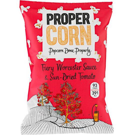 "Popcorn ""Fiery Worcester & Sun Dried Tomato"" 80g - 93% rabatt"