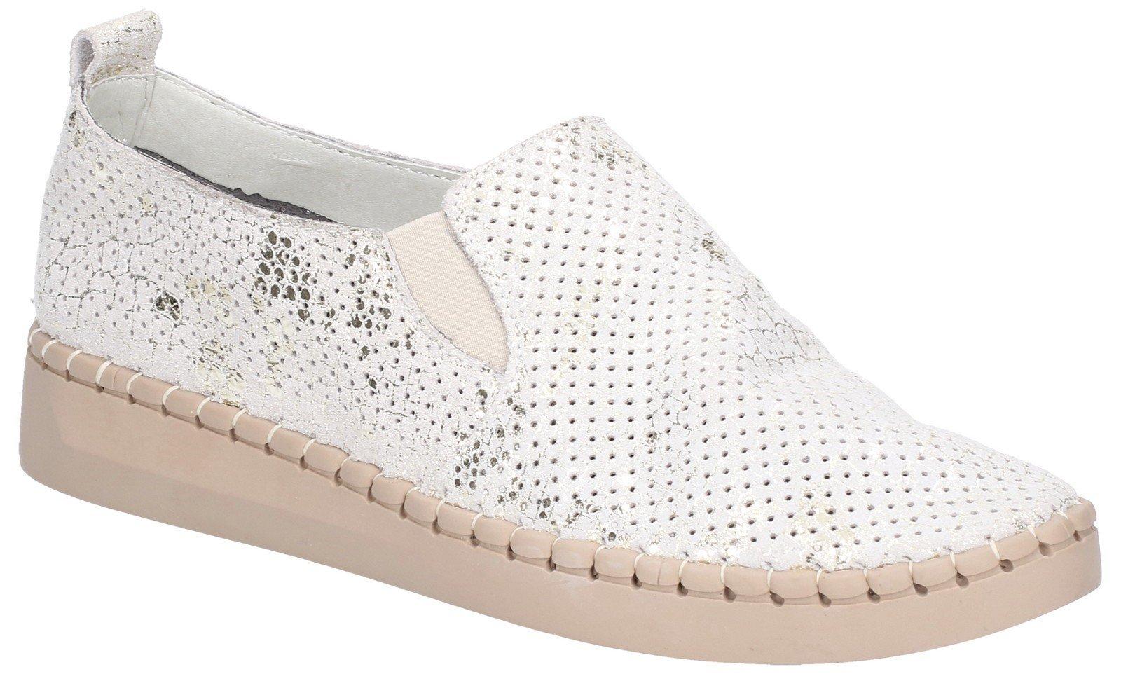 Fleet & Foster Women's Tulip Slip On Shoe White 28937-48937 - Beige 3