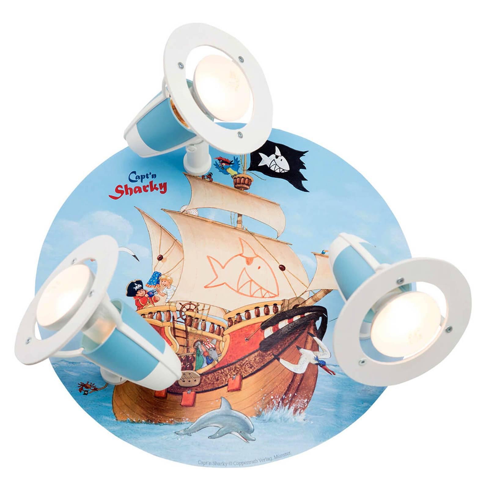 Taklampe Capt'n Sharky til barnerom