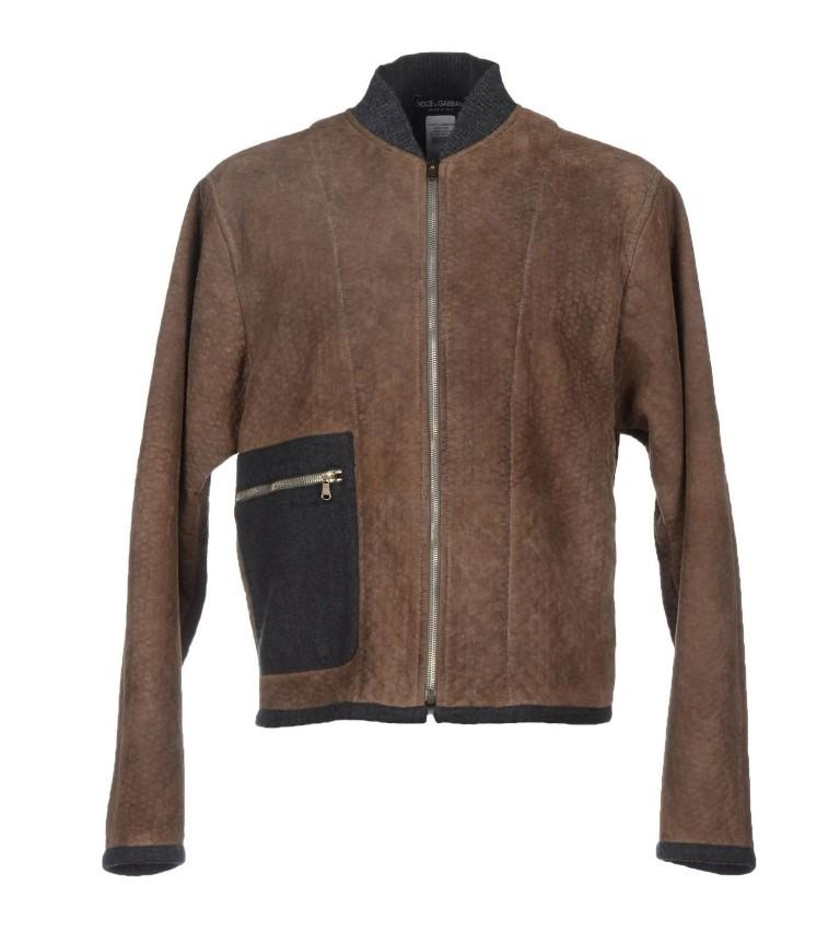 Dolce & Gabbana Men's Leather Jacket Brown GSD12711 - IT46   S