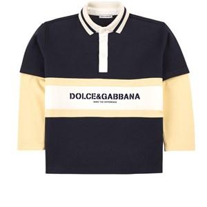 Dolce & Gabbana Logo Polo-topp Marinblå 4 år