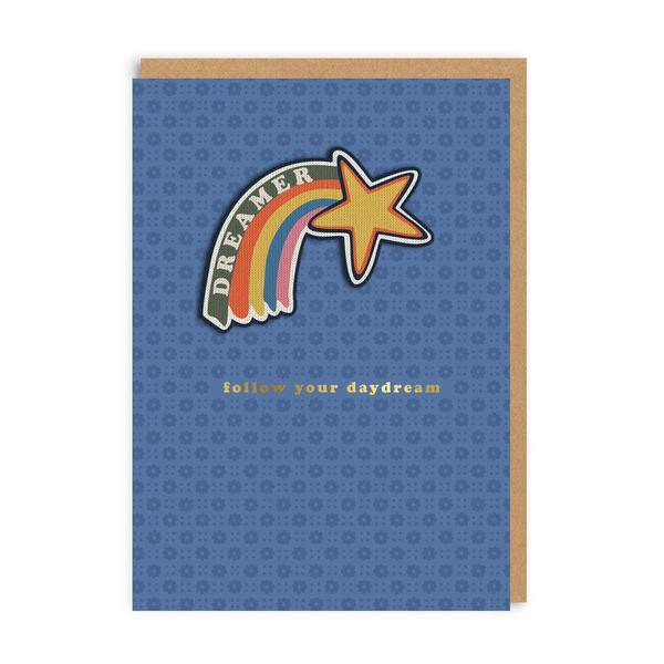 Follow Your Daydream Woven Patch Greeting Card