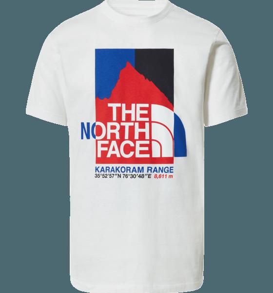 The North Face M Karakoram Graphic Tee T-shirts WHITE