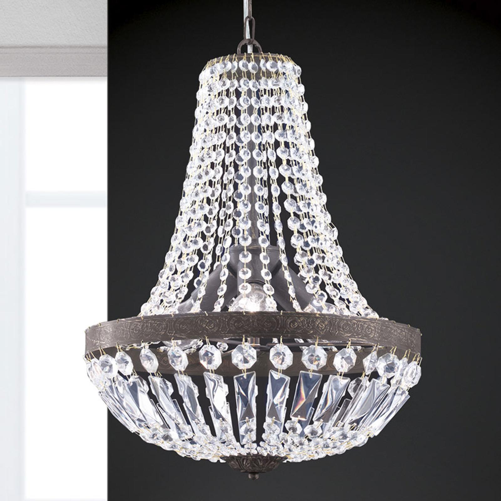 Riippuvalaisin Andara, kristalliketjut, Ø 40 cm