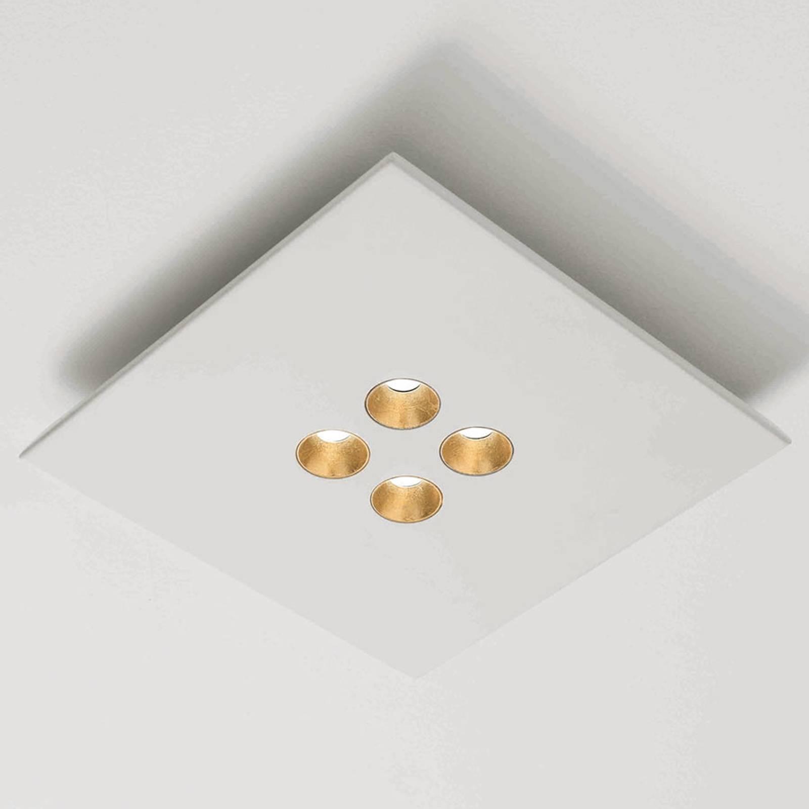 ICONE Confort -LED-kattovalaisin, valkoinen-kulta