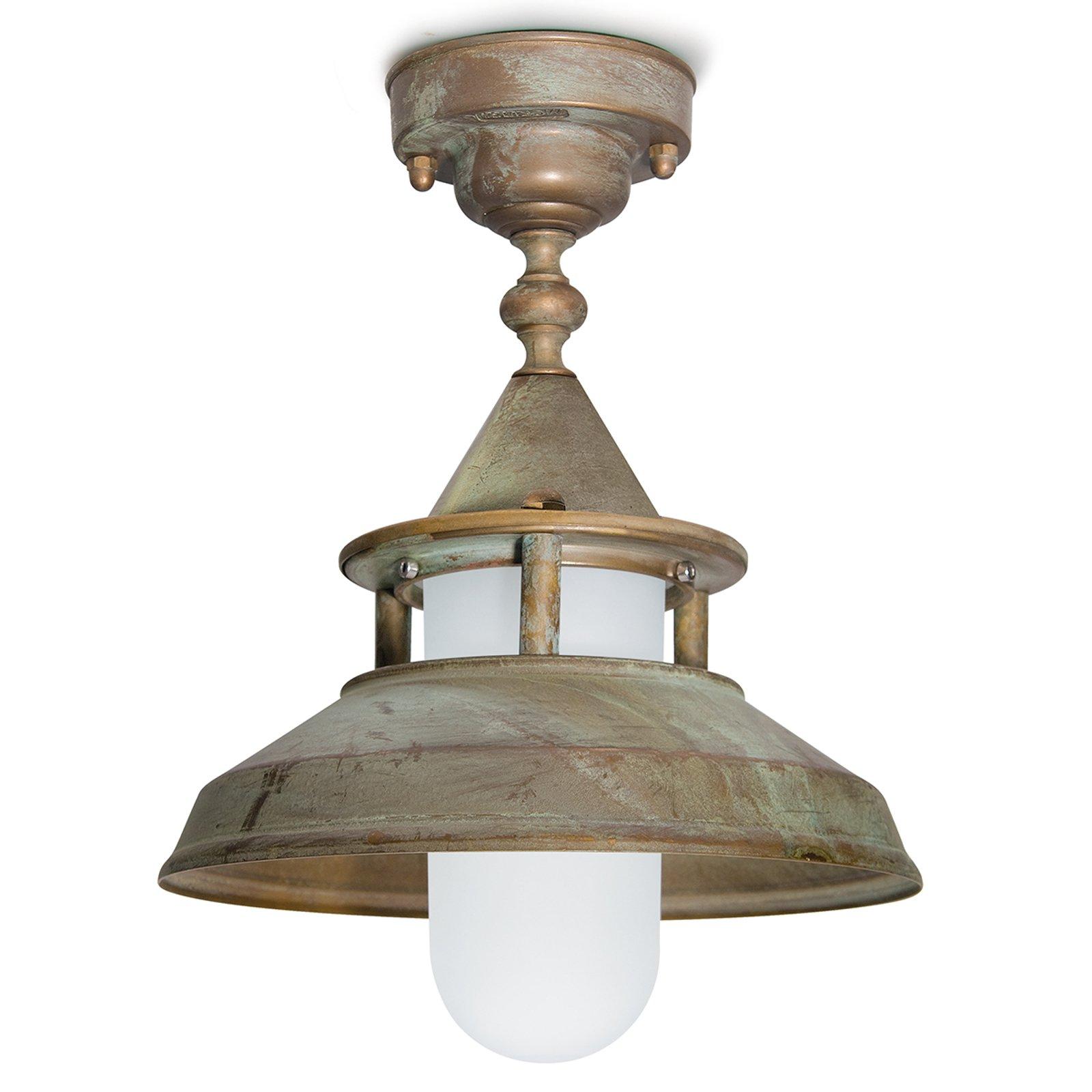 Taklampe Antique med antikk preg, tåler saltvann