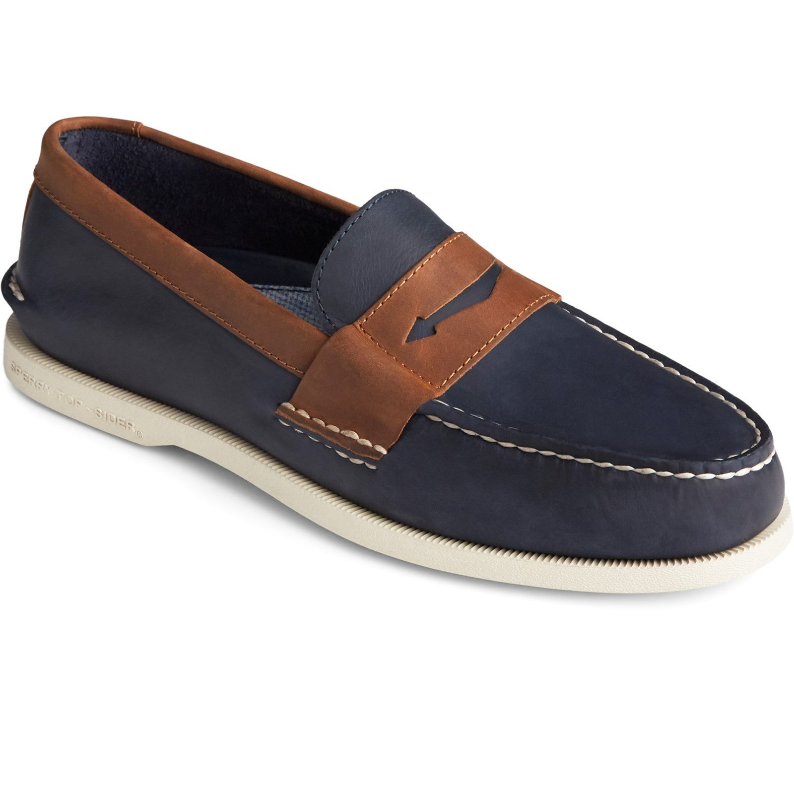Sperry Men's Authentic Original Penny Loafer Various Colours 32438 - Navy/Sonora 7