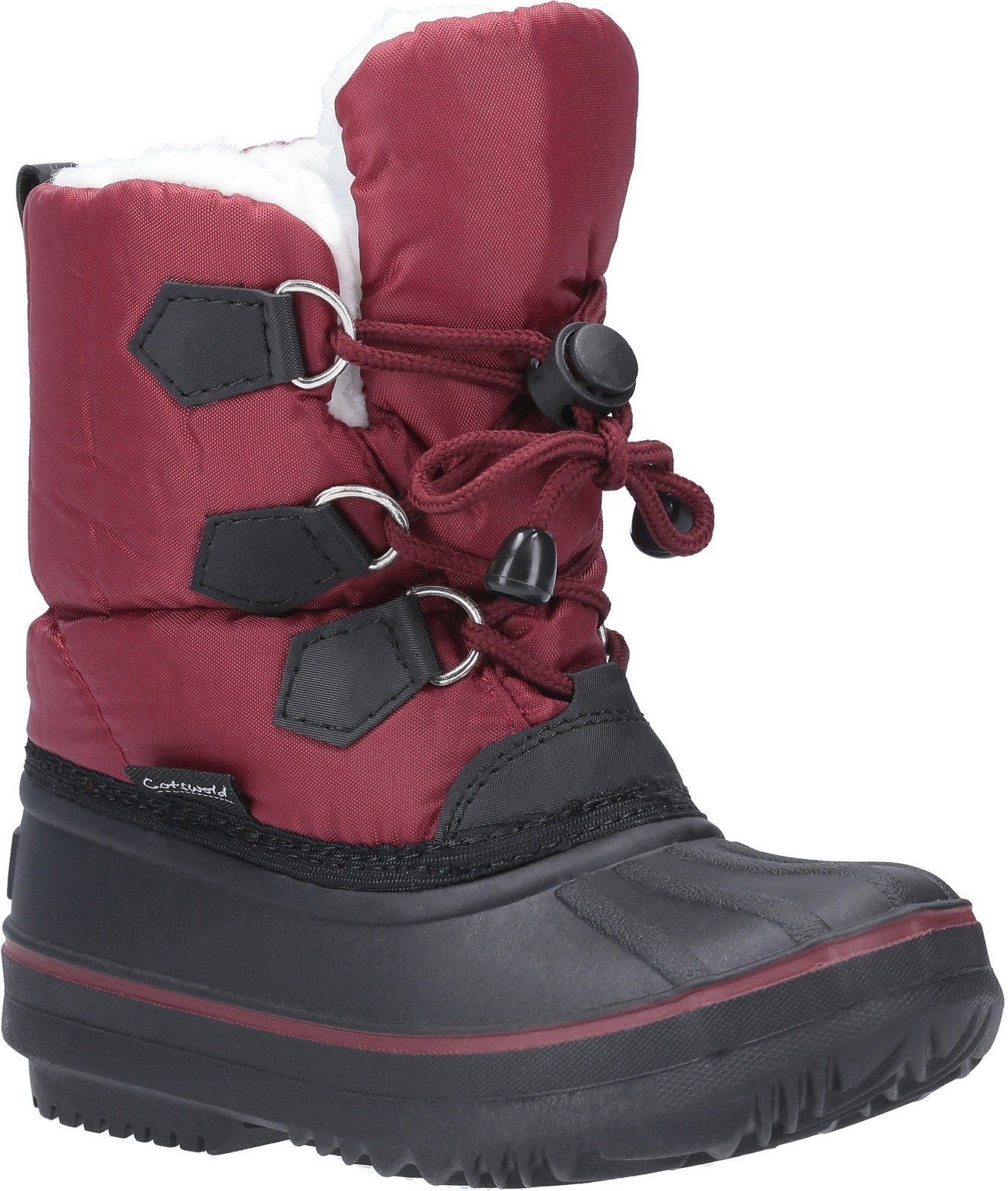 Cotswold Unisex Explorer Bungee Lace Snow Boot Red 29289 - Red 10