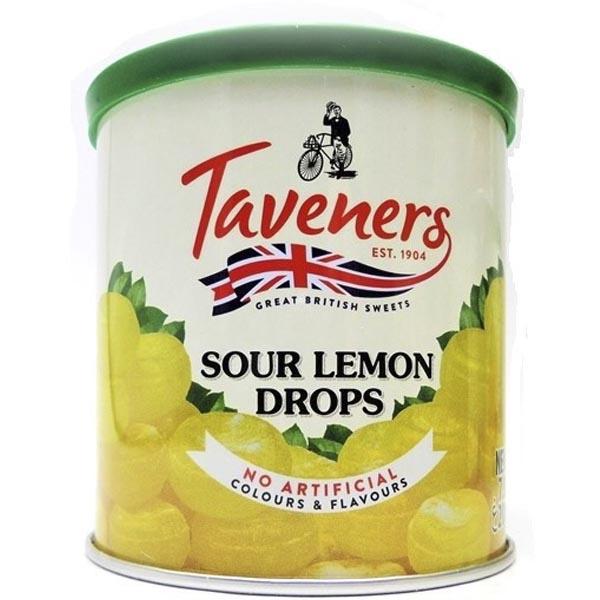 Taveners Sour Lemon Drops 200g