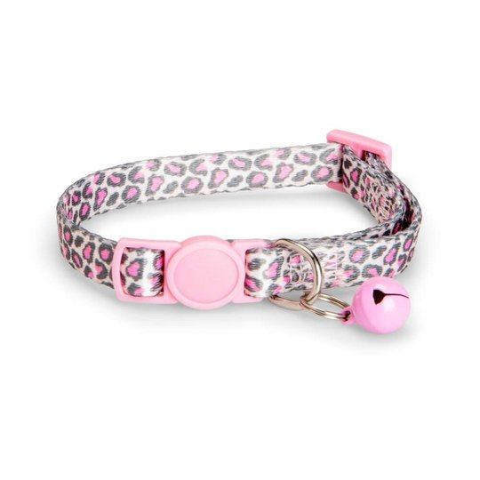Basic Cat Halsband Rosa Leopard