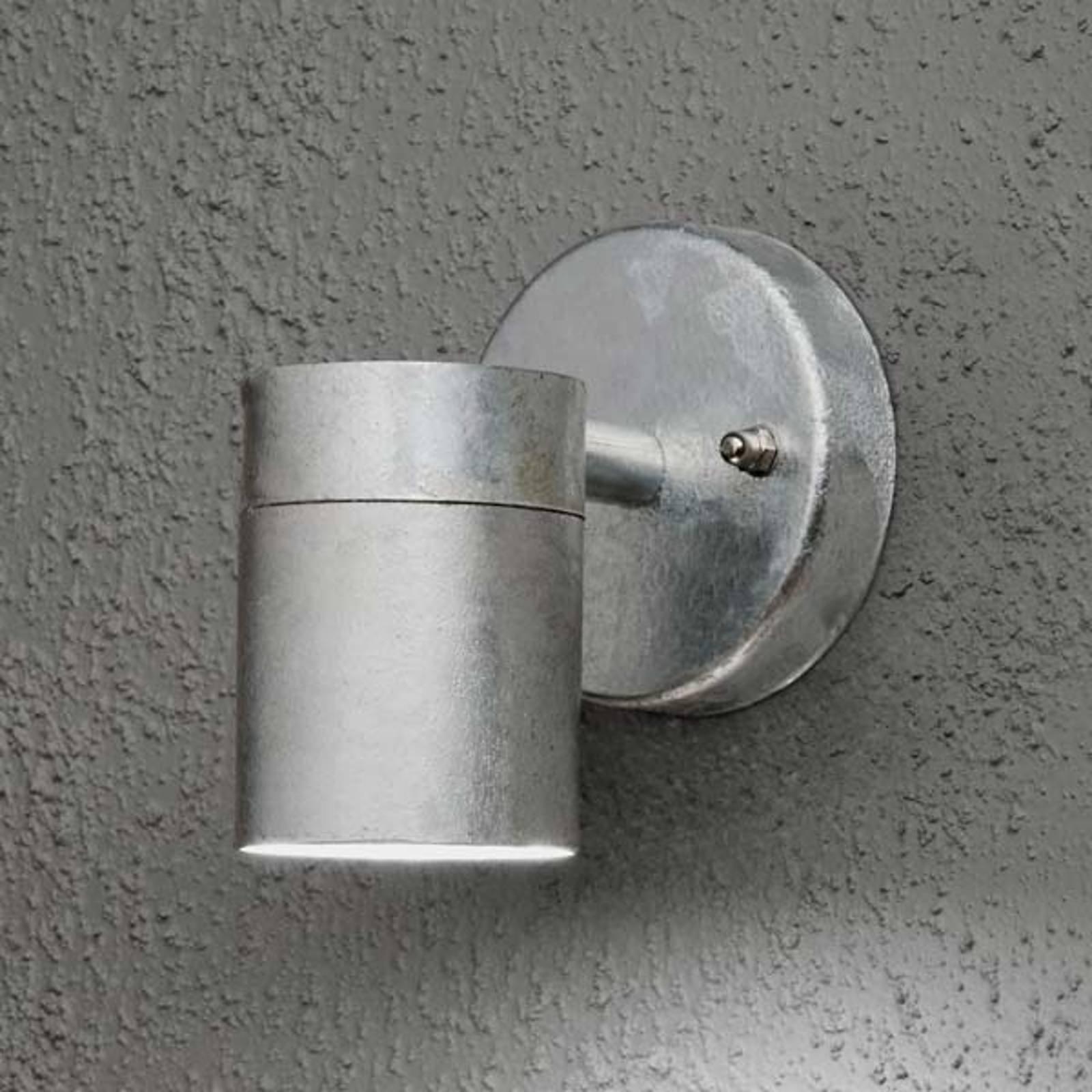 Modena utendørs vegglampe, 1 lyskilde, stålfarger