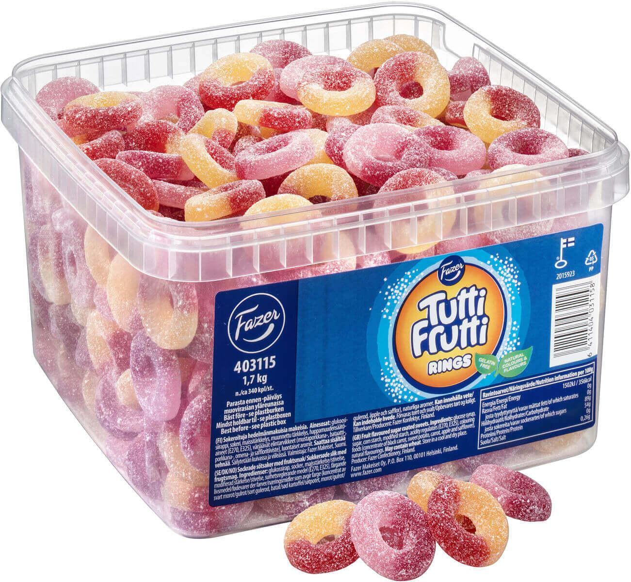 Tutti Frutti Rings 1.7kg