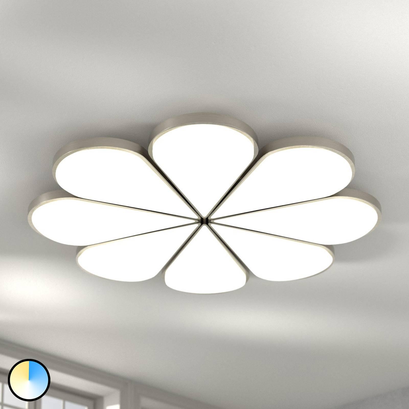 B-Leuchten Flower LED-kattovalaisin CCT, Ø 81 cm