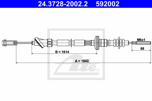 Kytkinvaijeri ATE 24.3728-2002.2