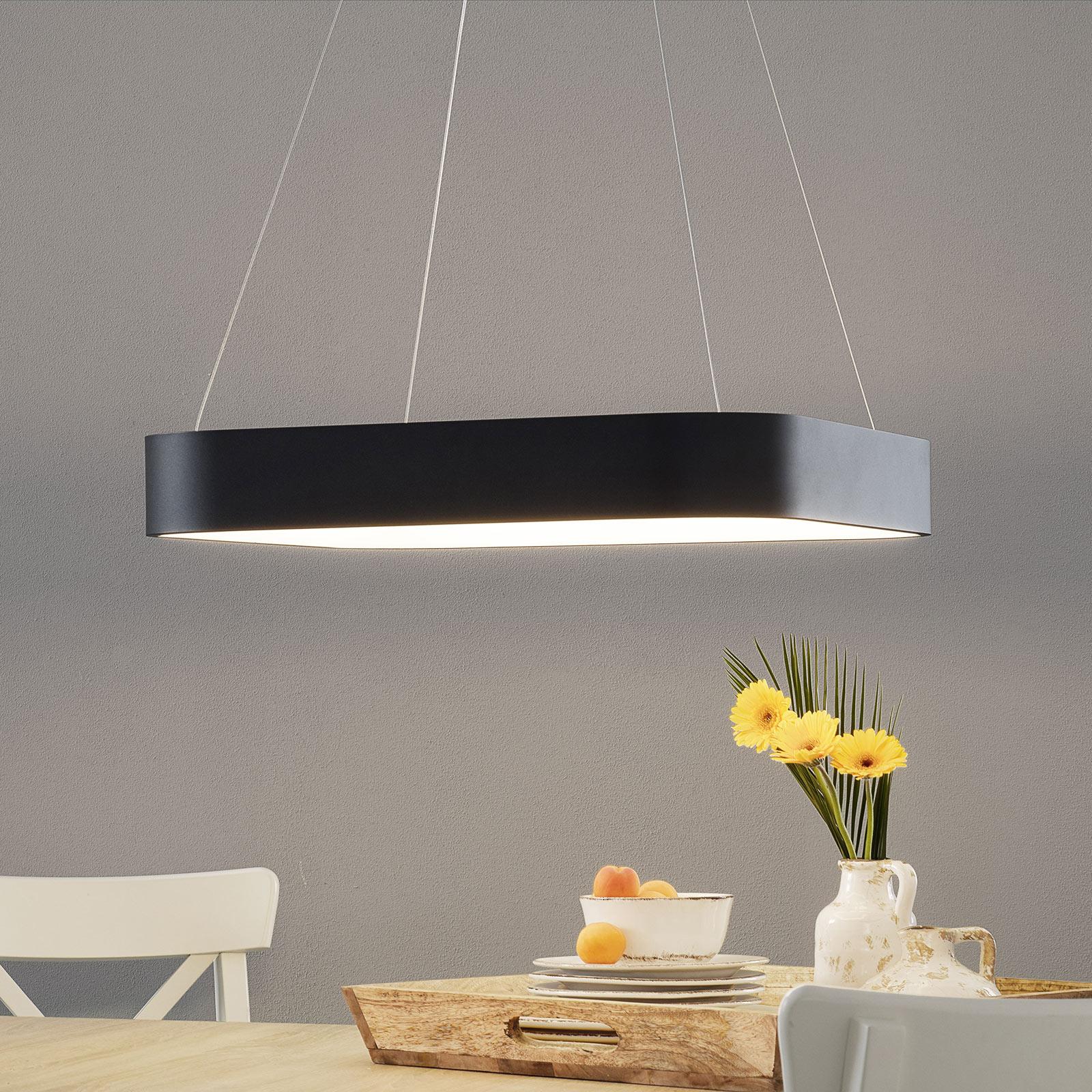 LED-riippuvalaisin Grand 60x60cm, musta