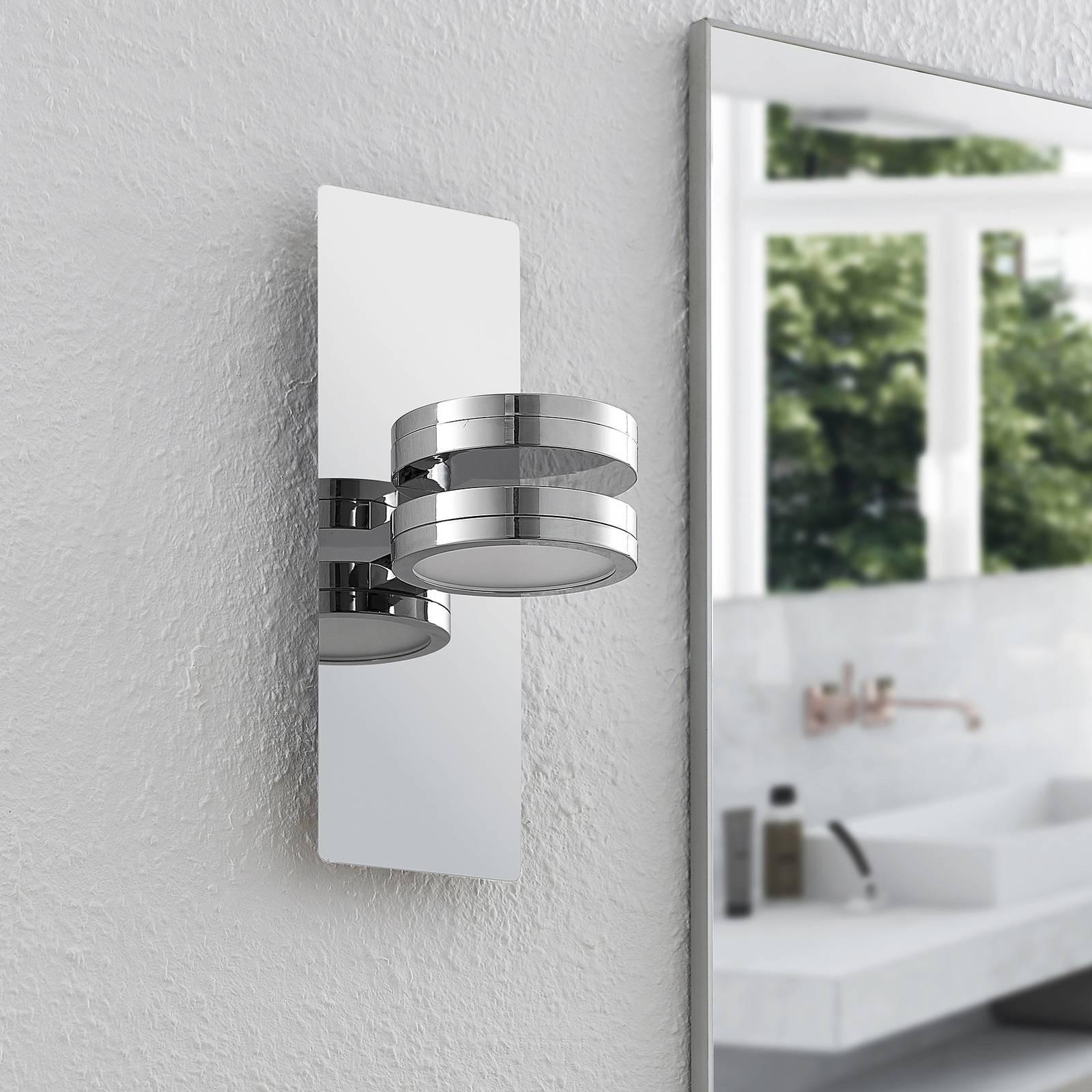 Lindby Skrolla LED-seinävalaisin 2-lamppuinen
