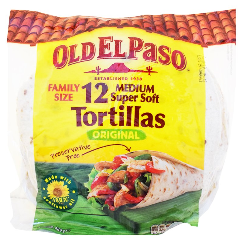 "Tortillaleivät ""Family Size"" 489g - 25% alennus"