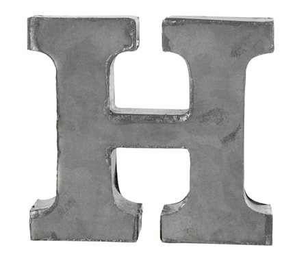 Bokstav H 5,5 cm - Zinc