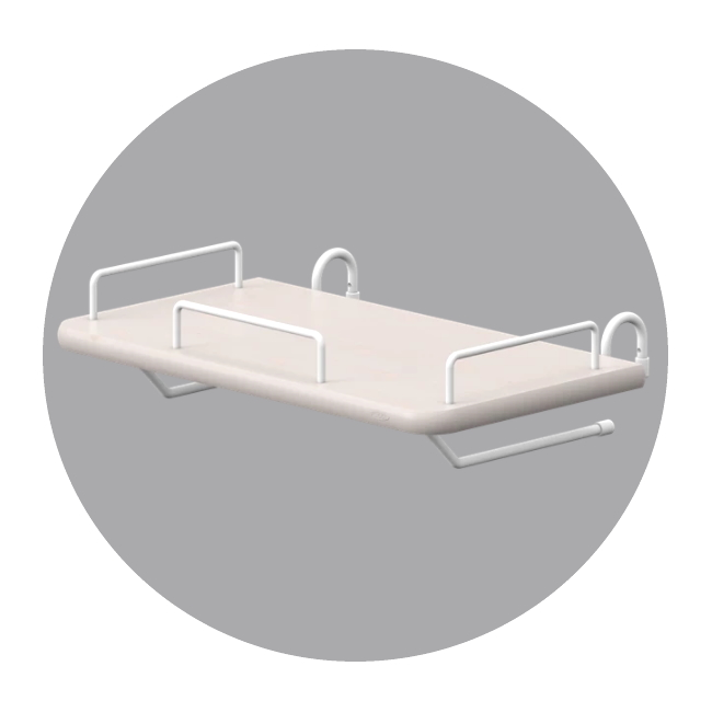 Sängbord grå till Classic sängar, FLEXA CLASSIC