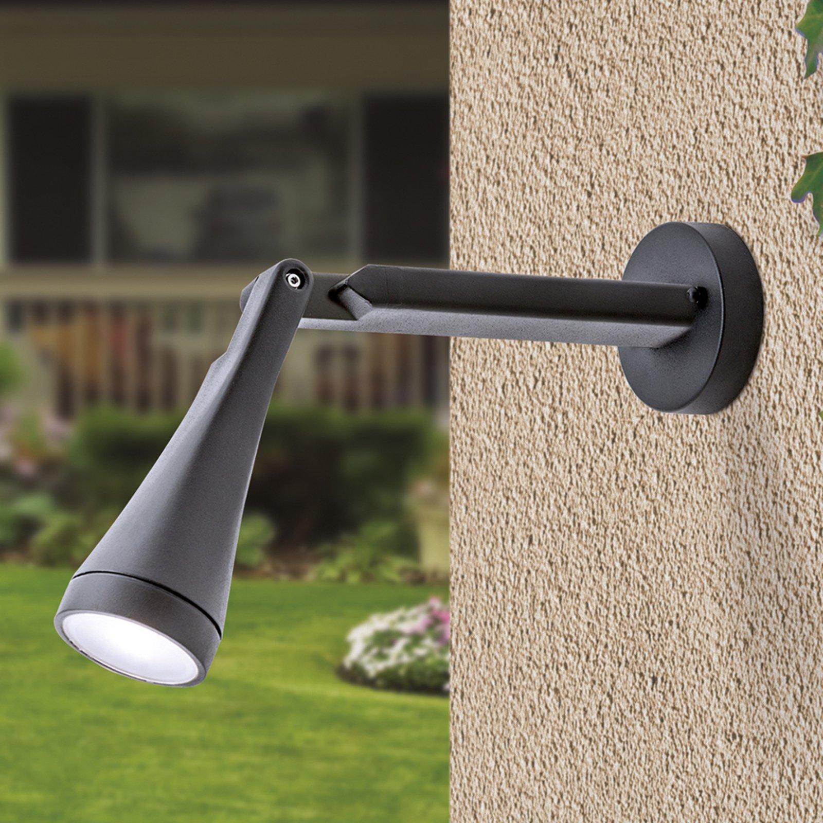 Storslått LED-utevegglampe Davin