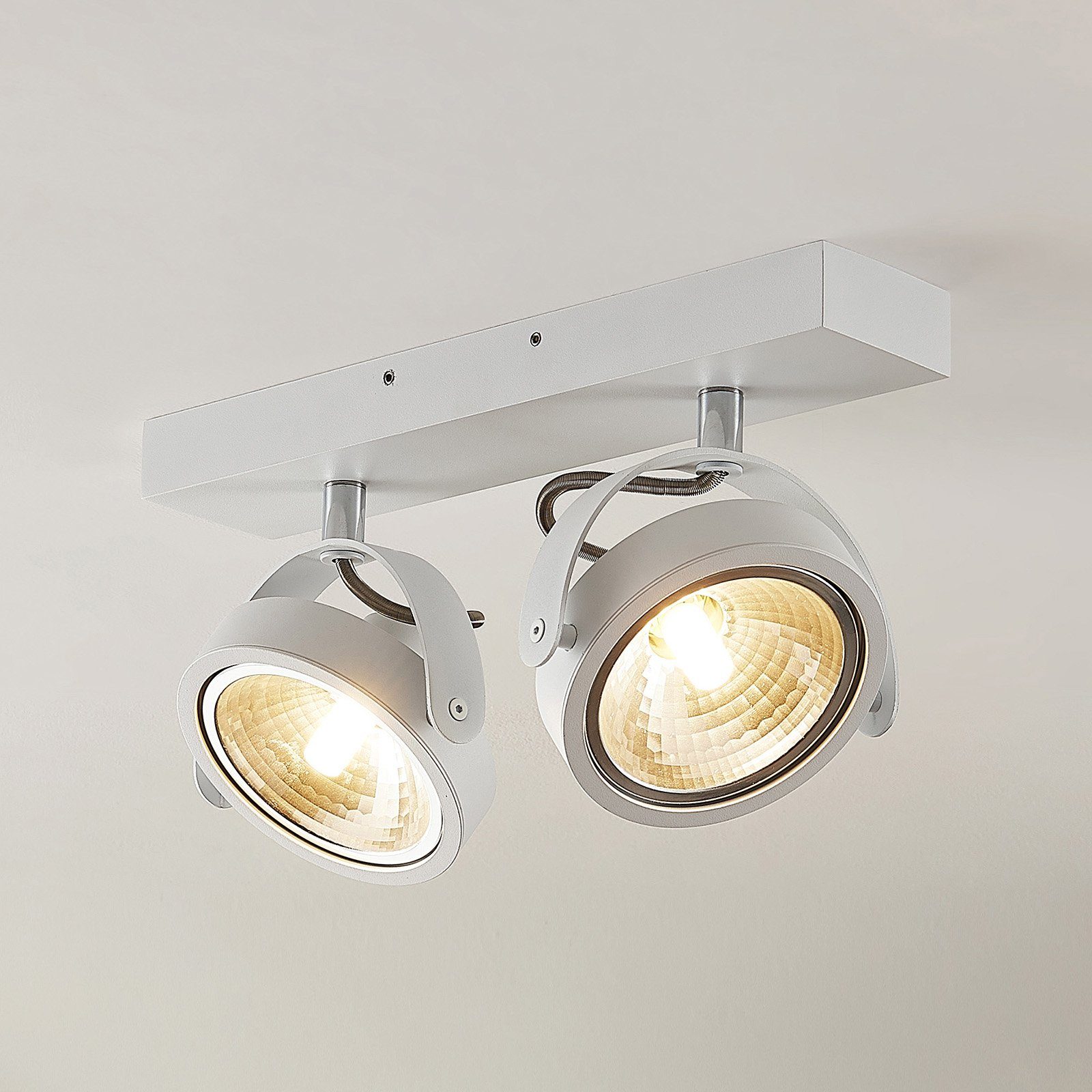 ELC Mitella takspot, 2 lyskilder, hvit