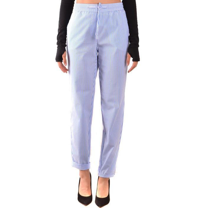 Boutique Moschino Women's Trouser Blue 167471 - blue 40