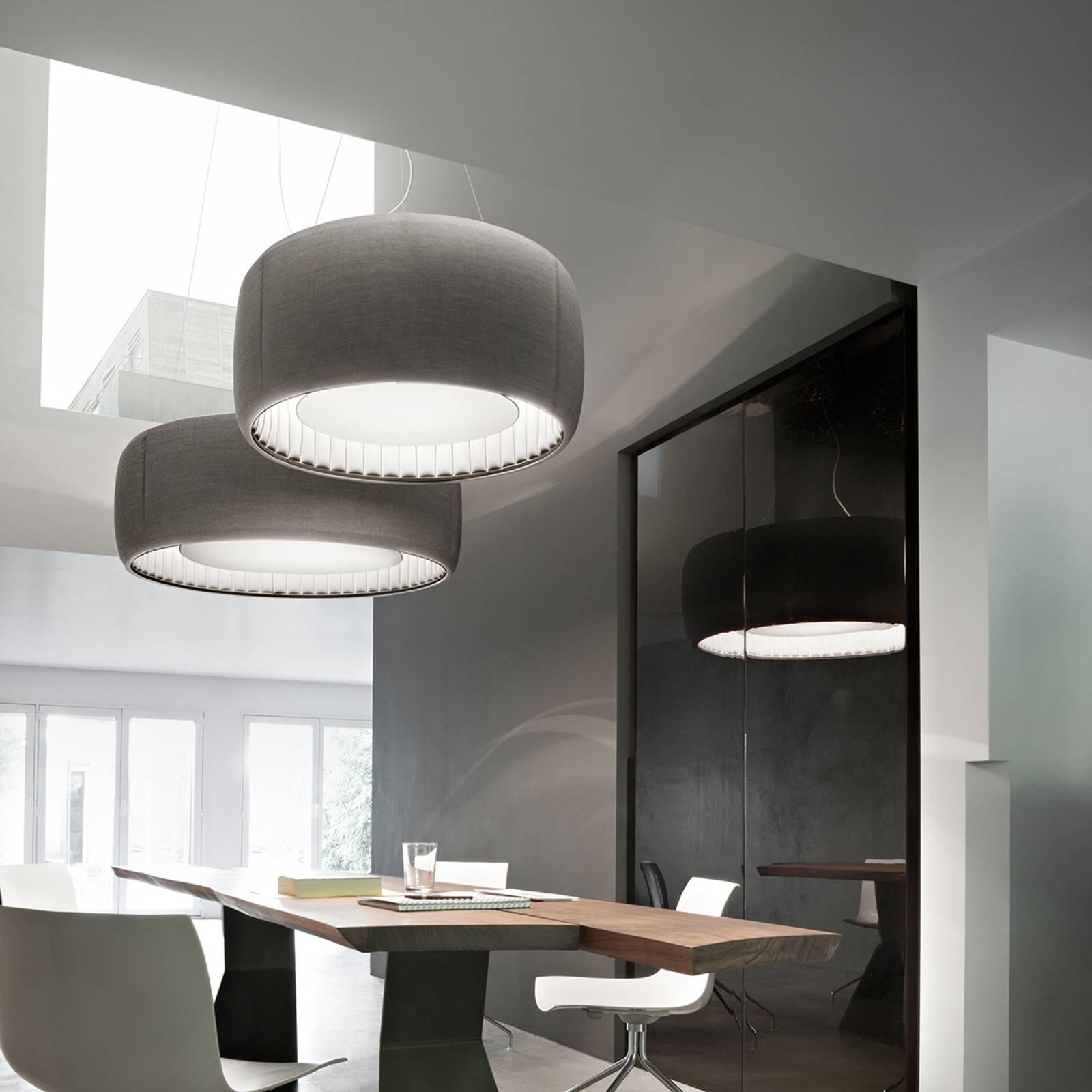 Luceplan Silenzio LED-riippuvalaisin harmaa Ø120cm