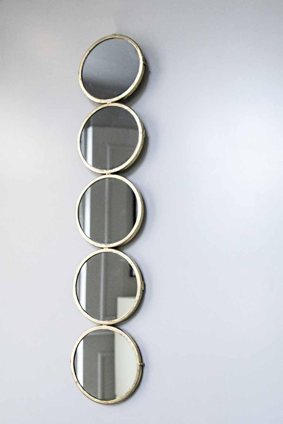 Spegel Dots 89x18 cm guld